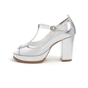 Korse silver wedding shoes